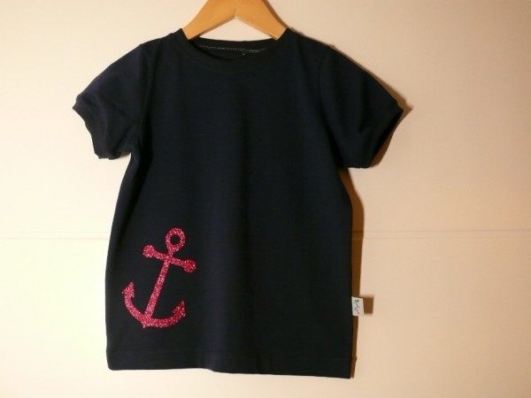 T-Shirt mit Ankerglitzerplott